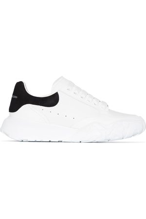 Alexander McQueen White Court leather low top sneakers