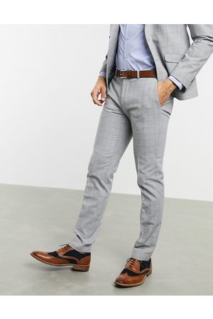 Shelby & Sons Slim suit trousers in grey check
