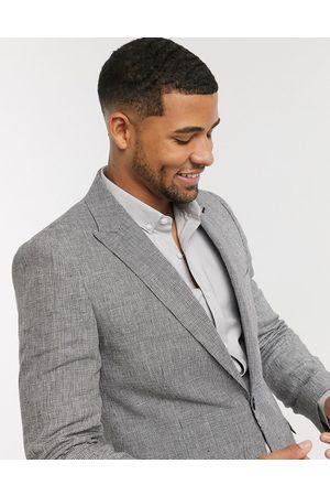 Shelby & Sons Muži Saka - Slim suit jacket in mini check in mono-Black