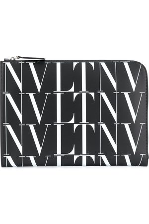 VALENTINO GARAVANI Leather zip logo bag