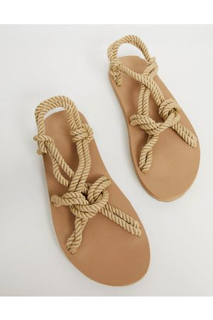 ASOS Sandals in natural rope-Stone