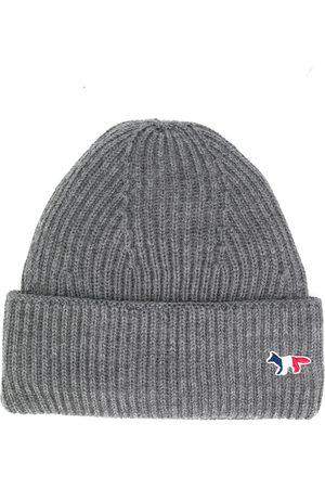 Maison Kitsuné Klobouky - Fox patch knitted hat
