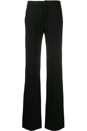VERSACE 2000s high-waisted flared trousers