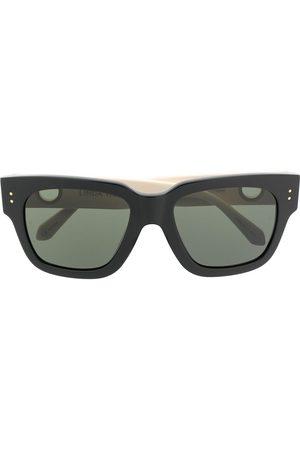 Linda Farrow Cut-out square-frame sunglasses