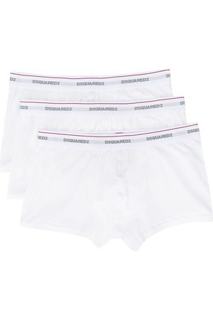 Dsquared2 Logo embroidered stripe detail boxers