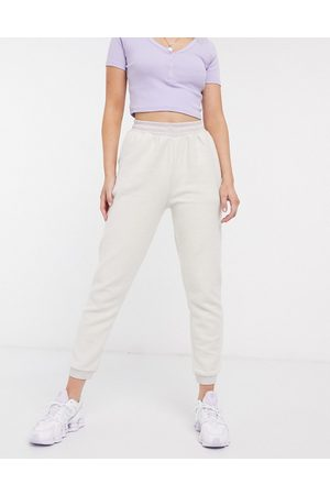 ASOS Jogger in soft touch-Cream