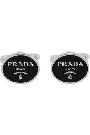 Prada Lettering logo cufflinks
