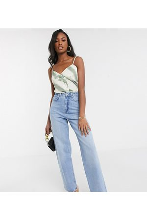 ASOS ASOS DESIGN Tall high rise 'relaxed' dad jeans in midwash-Blue