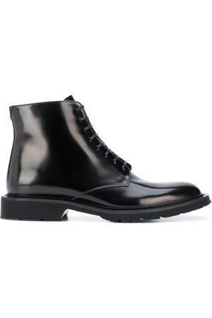 Saint Laurent Lace-up polished ankle boots