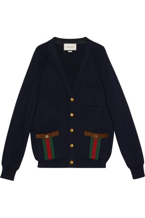 Gucci Web-detail knitted cardigan