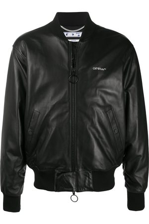 OFF-WHITE Leather Agreement bomber jacket