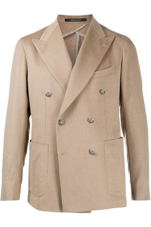 TAGLIATORE Peak lapel double-breasted blazer
