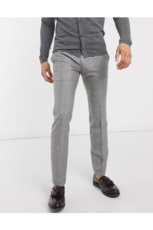French Connection Muži Chino - Smart trousers check prince of wales in skinny fit-Black