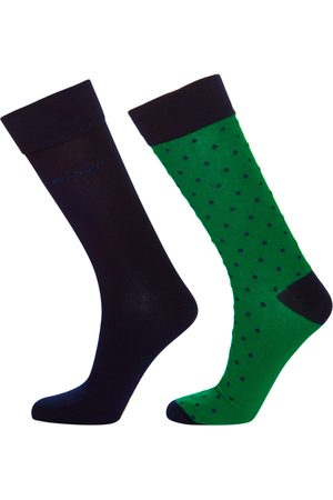 GANT Ponožky 2-Pack Solid And Dot Socks