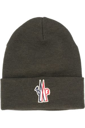 Moncler Logo patch virgin wool beanie