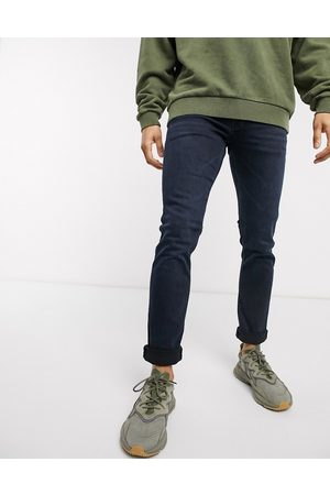 Jack & Jones Slim tapered fit super stretch jeans in deep blue