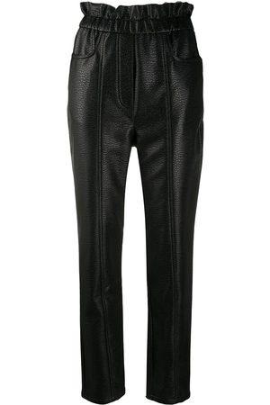 Serafini Faux-leather slim trousers