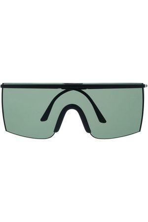 VERSACE 1990s rimless oversized-frame sunglasses