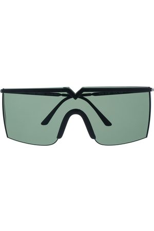 VERSACE 1990s tinted shield sunglasses