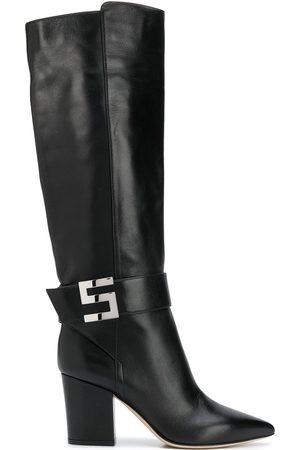 Sergio Rossi Logo-plaque knee boots