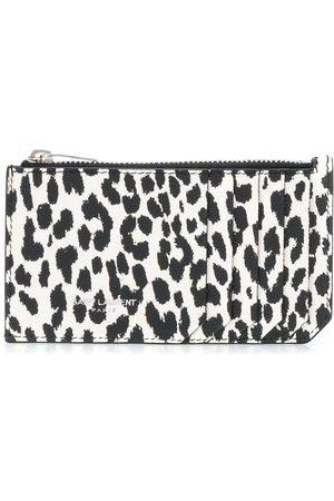 Saint Laurent Leopard print zipped cardholder