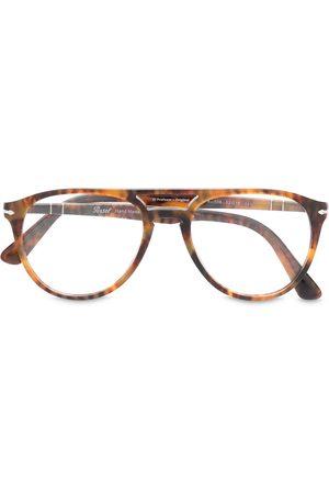 Persol Double bridge tortoiseshell glasses