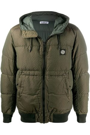 Stone Island Logo patch puffer jacket