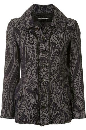 Junya Watanabe Comme Des Garçons Pre-Owned Paisley embroidered denim jacket