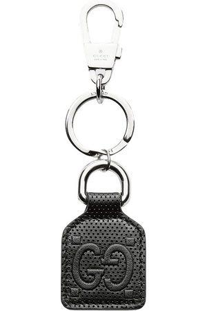 Gucci GG logo leather keyring