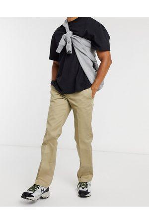 Dickies Muži Chino - 873 slim straight fit work pant in khaki-Green