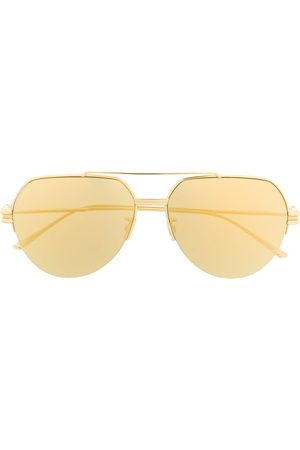Bottega Veneta Eyewear Half-rim aviator-frame sunglasses
