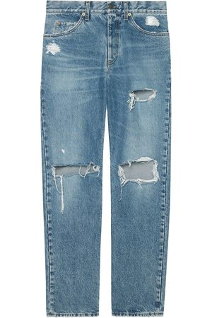 Gucci Distressed straight-leg jeans