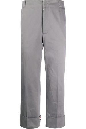 Thom Browne Twill beltloop straight trousers