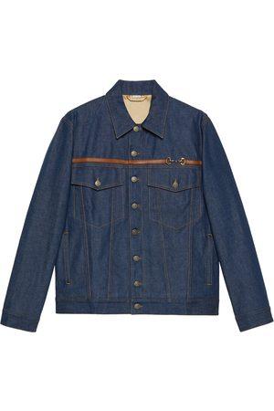 Gucci Horsebit detail washed denim jacket