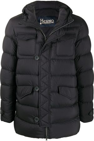 HERNO Puffer jacket with button detail