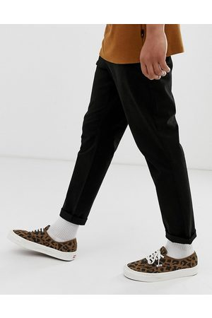 ASOS Tapered chinos in black