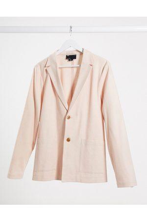 ASOS Muži Saka - Skinny casual linen mix suit jacket in pink
