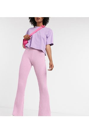 Reclaimed Vintage Inspired knitted flares co-ord-Purple