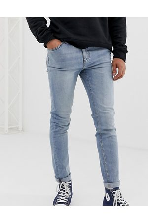 Cheap Monday Tight skinny jeans in stonewash blue