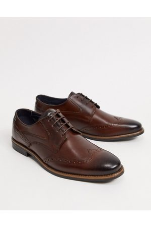 Base London Muži Do práce - Risco brogues in brown leather