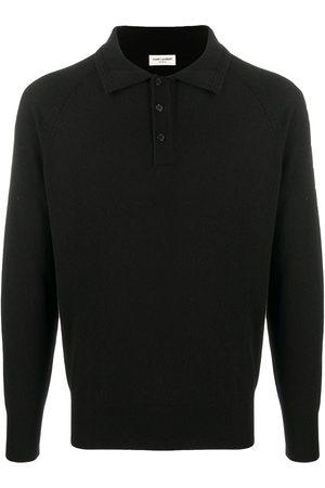 Saint Laurent Cashmere long-sleeved polo shirt
