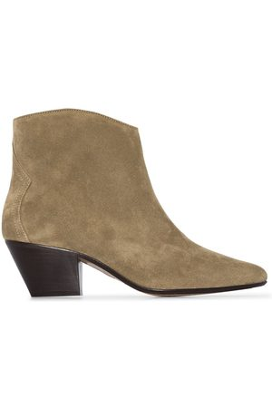 Isabel Marant Taupe Dackensue 60 suede cowboy boots