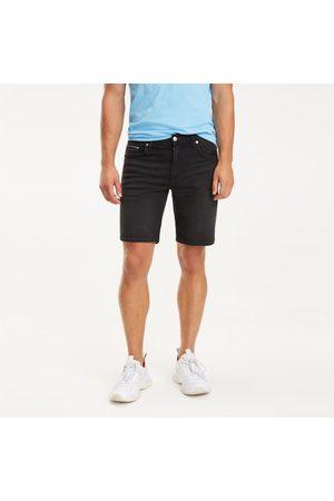 Tommy Hilfiger Muži Šortky - Pánské černé džínové šortky Brooklyn