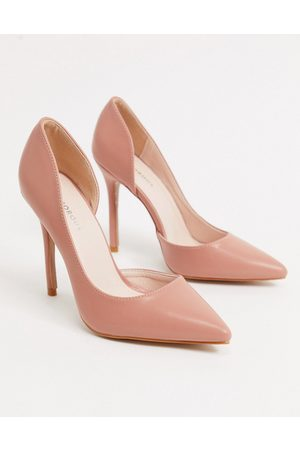 Glamorous D'orsay court shoes in blush-Beige