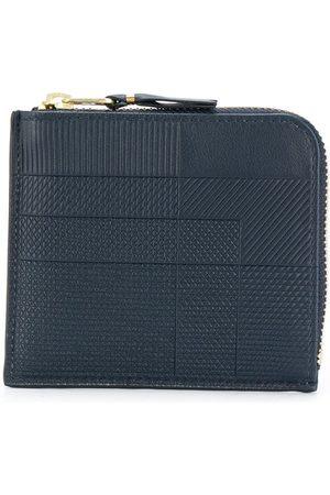 Comme des Garçons Navy blue mixed pattern wallet
