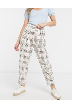 ASOS Slide suit trousers in candy check-Multi