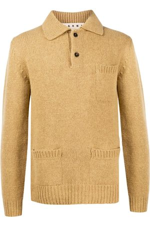 Marni Knitted long sleeve polo shirt