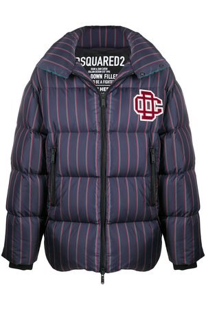 Dsquared2 Striped padded coat