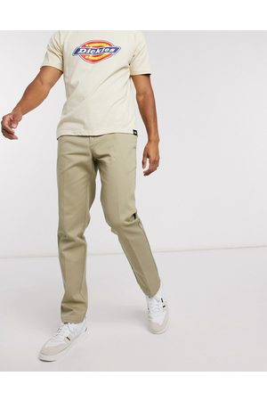 Dickies 872 slim fit work pant in khaki-Green