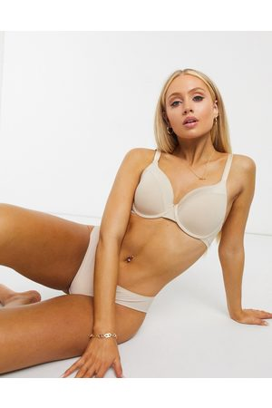 Lindex Recycled poly classic t-shirt bra in beige